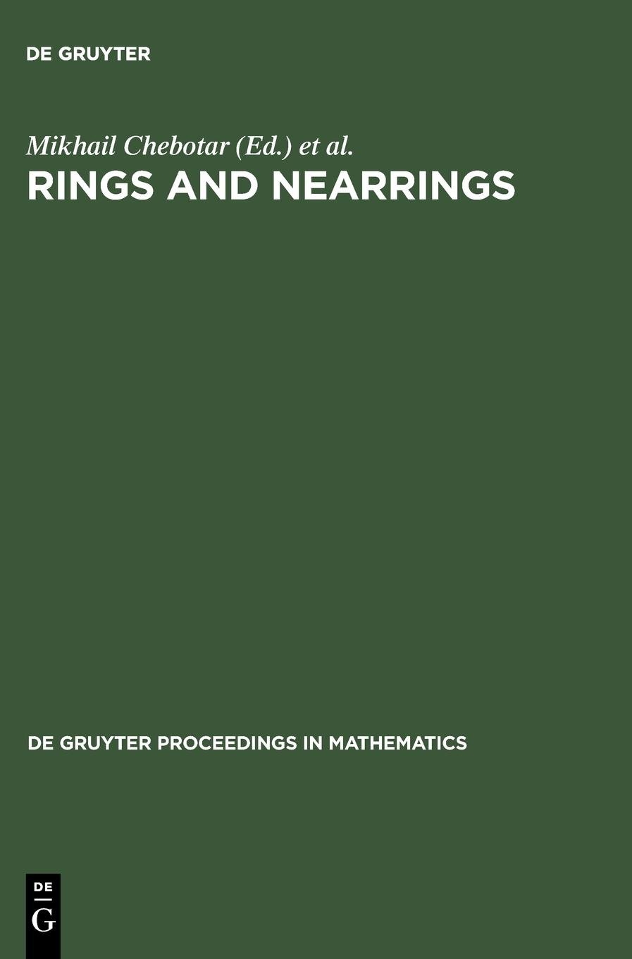 Download Rings and Nearrings (De Gruyter Proceedings in Mathematics) PDF