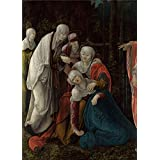 'Wolf Huber Christ taking leave of his Mother ' oil painting, 12 x 17 inch / 30 x 42 cm ,printed on Perfect effect canvas ,this Best Price Art Decorative Canvas Prints is perfectly suitalbe for Game Room decoration and Home artwork and Gifts