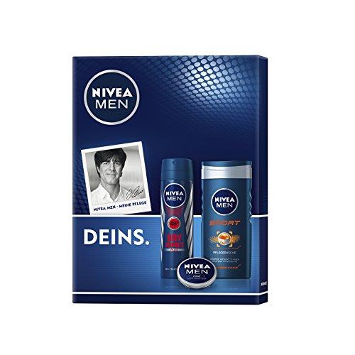 Nivea Men Geschenkset Sport Deo, Duschgel und Creme, für Männer, 1er Pack