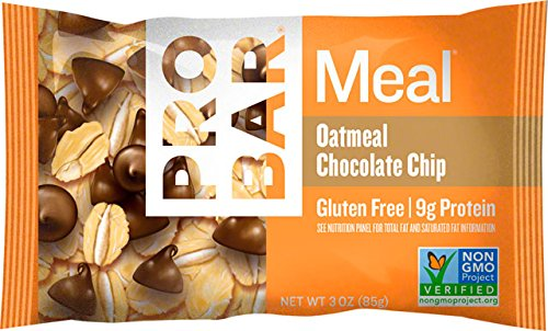 PROBAR - Oatmeal Chocolate Chip - Certified Organic, Gluten Free, Non-GMO Project Verified, Plant-Based Whole Food Ingredients, Vegan - Pack of 12 Bars
