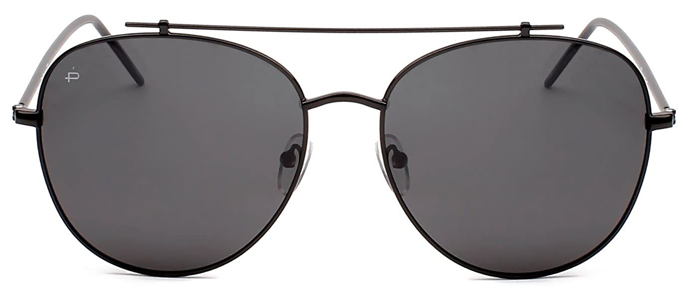 "72ee5b7bde64 Amazon.com  PRIVÉ REVAUX ICON Collection ""The Einstein"" Designer Polarized  Aviator Sunglasses  Clothing"