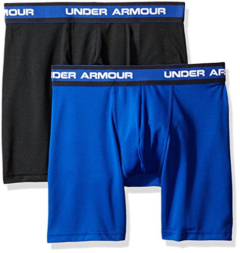 Under Armour Men's Mesh Performance Boxerjock 2-Pack, Royal/Black, Medium by Under Armour