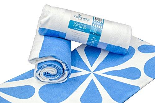 (Laguna Blue Antibacterial Microfiber Sand-Free Beach Towel (32