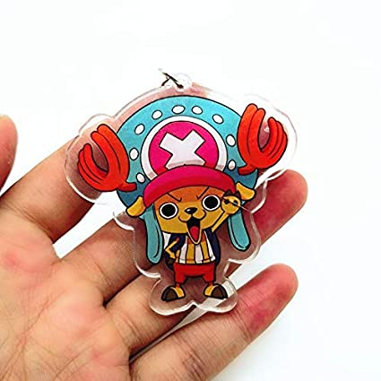 Amazon.com : Anime ONE Piece Zoro Luffy Acrylic Key Chain ...