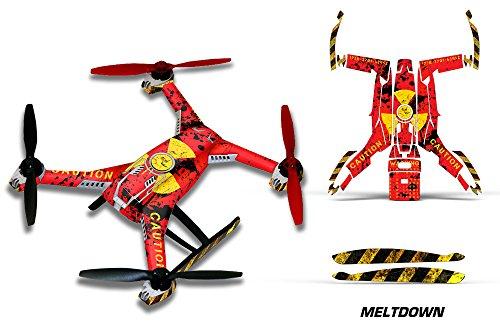 Designer decal wrap skin for Blade 350 QX2 Meltdown