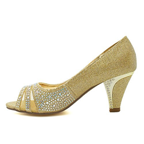 Peep Damen Toes Gold London Footwear EwTfqYv0n