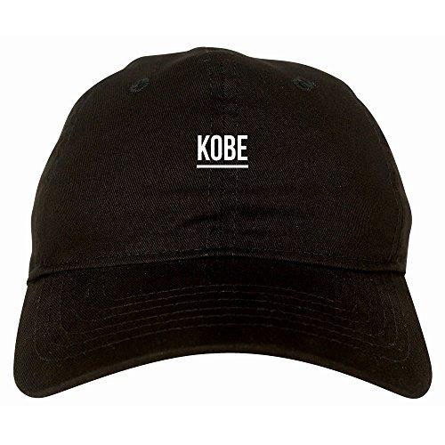 Kings Of NY City of Kobe Simple Underline 6 Panel Dad Hat Cap Black (Kobe Bryant Hat)