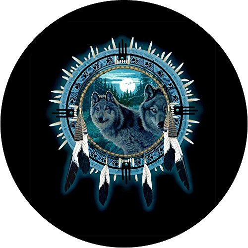 wolf jeep wheel cover - 1