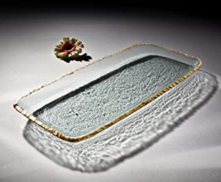 product image for Annieglass Glass Party Tray Edgey with Gold Trim