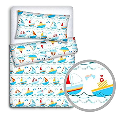 Ladder green DUVET COVER 2PC TO FIT JUNIOR BED BABY BEDDING SET PILLOWCASE