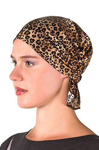 Chemo-Kaps-Karlyn-Cheetah-Print-Womens-Head-Wrap-Hat-Scarf-for-Cancer-Patients