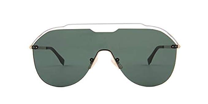 1ba6ebcaca01 Fendi FF M0030 S J5GQT Sunglasses Gold Frame Green Lenses 99mm   Amazon.co.uk  Clothing