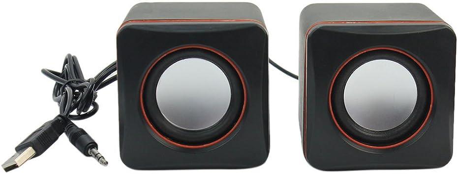 2X 3.5mm Mini USB Altavoces para Ordenador Portátil Smartphones