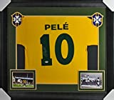 Brazil Pele Authentic Signed & Framed Yellow Jersey Autographed PSA/DNA ITP