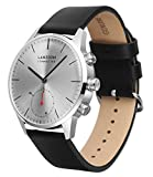 LANZOOM Series Weser Mens Wristwatch Multifunction Android iOS Quartz Smart Watch 5ATM Water Resistant Best Gift For Him (White + Black)