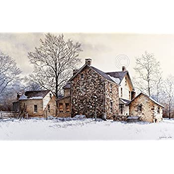 Ray Hendershot Evening Quiet Country Winter Tree Landscape Print Poster 26x17