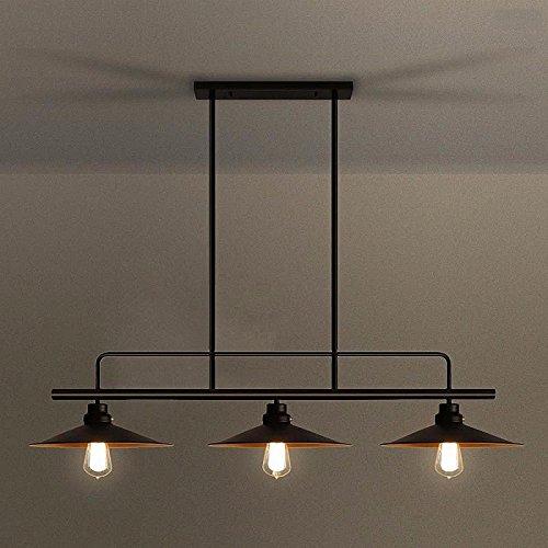 Moderne lustre American retro vent industriel lampes lustre billard bar restaurant créatif trois lustres en fer couvercle