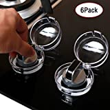 Stove Knob Covers for Child Safety,6 Pack Clear View Stove Knob Covers,Kitchen Oven Gas Stove Switch Protection Locks Baby ToddlerSafety