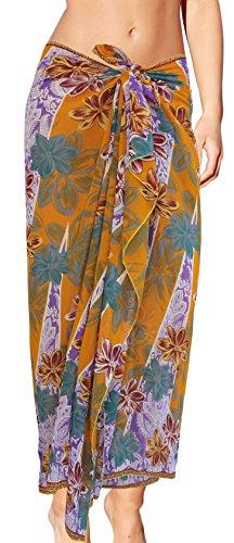 Ropa de Playa del traje de baño del traje de baño del bañador del abrigo del mantón de bikini de encubrir el pareo dorado