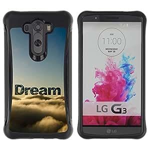 """Pulsar iFace Series Tpu silicona Carcasa Funda Case para LG G3 / D855 / D850 / D851 , Sueño Nubes Cielo Texto Naturaleza Esperanza"""""""