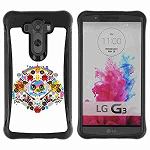 A-type Arte & diseño Anti-Slip Shockproof TPU Fundas Cover Cubre Case para LG G3 / D855 / D850 / D851 ( Cool Colorful Tatto Signs )
