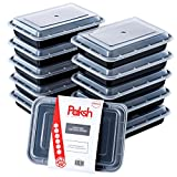 Paksh Novelty Food Storage Containers for Meal Prep, with Super Easy Open Lids - BPA-Free, Reusable, Microwavable - Bento Box Food Containers for Portion Control, and Leftovers (10 Pack) 28 oz