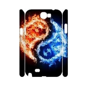 DIYCASESTORE Gorgeous Samsung Galaxy Note 2 N7100 case Yin Yang Symbol Pattern Customized Hard Case WE193784