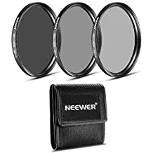 Neewer® 62MM Photography Filter Set (ND2 ND4 ND8) + Microfiber Cleaning Cloth for the PENTAX DSLR Cameras with a 18-135mm F3.5-5.6 AL zoom Lens and SONY Alpha with a 18-135mm f/3.5-5.6 Zoom Lens.