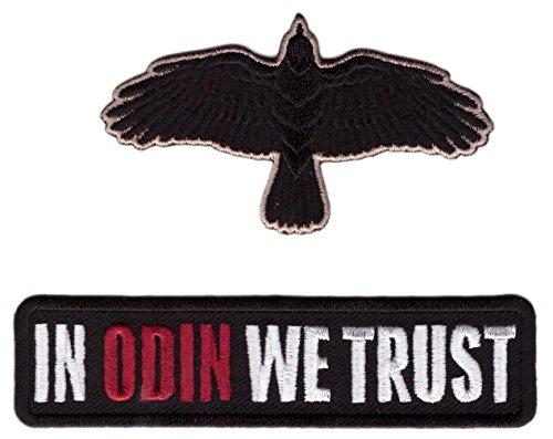 Hook Odin We Trust + Raven Flying Crow Vikings Tactical Mora