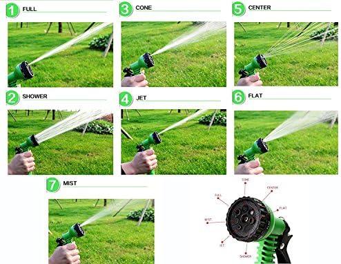 Facilidad expandible Magic manguera de goma flexible manguera de jardín con pistola de riego para jardín tubo de agua mangueras de riego telescópica de coche: Amazon.es: Jardín