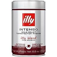 illy Intenso Espresso Dark Roast Ground Coffee, 250g