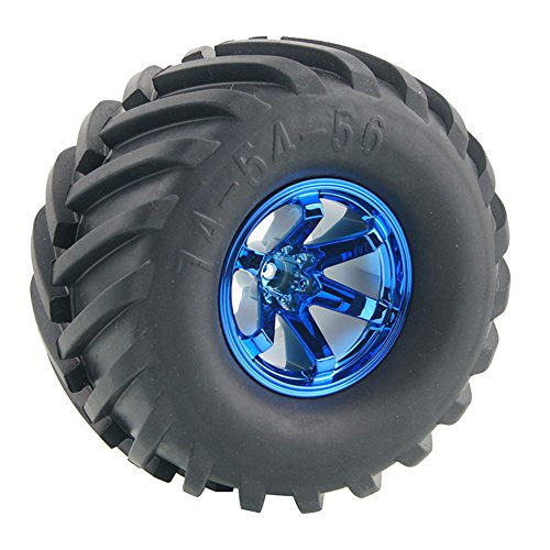 Boliduo 4Pcs 1/10 Monster Truck Tire Tyres with 6 spokes wheel rim for Traxxas HSP Tamiya HPI Kyosho RC Model Car Parts