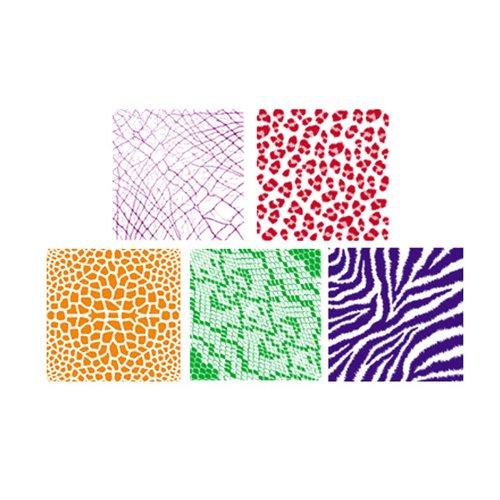 ROYLCO INC. RUBBING PLATES ANIMAL SKINS (Set of 3)