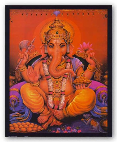 "Ganesha 18.75""x14.625"" Art Print Poster"