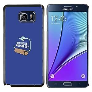 YiPhone /// Prima de resorte delgada de la cubierta del caso de Shell Armor - ¿Dónde está tu Dios papel higiénico divertido - Samsung Galaxy Note 5 5th N9200