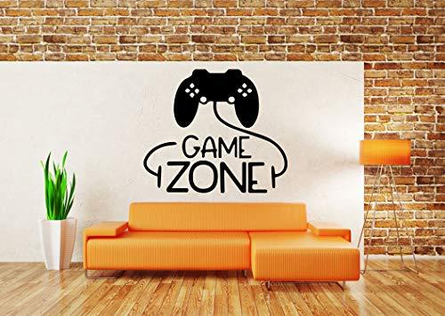 (Vinyl Sticker Videogame Game Zone Joystick Controller Cartoon Kids Room Mural Decal Wall Art Decor EH2027)