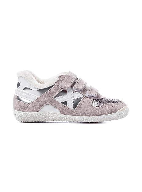 Zapatilla Munich Mini Goal VCO 1409 32 Gris: Amazon.es: Zapatos y complementos