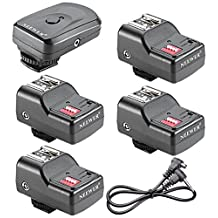 Neewer® 4 Channel Wireless Remote FM Flash Speedlite Radio Trigger with 2.5mm PC Receiver for Canon 580EX II 580EX 550EX 540EZ 520EZ 430EX, Nikon SB900 SB800 SB600 SB28, Neewer TT860, TT850, TT560, YN560 III, YN560 II, YN560 I, Olympus, Pentax,Sigma, Sunpak, Vivitar 285HV and Other Flash Units with Universal Hot Shoe (1 Trigger&4 Receivers Set)