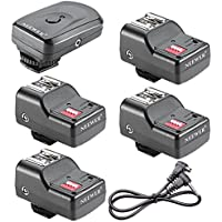 Neewer 4 Channel Wireless Remote FM Flash Speedlite Radio Trigger with 2.5mm PC Receiver for Canon 580EX II 580EX 550EX 540EZ 520EZ 430EX, Nikon SB900 SB800 SB600 SB28, Neewer TT860, TT850, TT560, YN560 III, YN560 II, YN560 I, Olympus, Pentax,Sigma, Sunpak, Vivitar 285HV and Other Flash Units with Universal Hot Shoe (1 Trigger&4 Receivers Set)