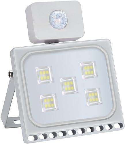 Missbee 10 Pack 30W LED Motion Sensor Flood Lights, Thinner Lighter Outdoor Work Light, Waterproof IP67, 3300LM, Super Bright PIR Security Lights, Cold White 6000-6500K