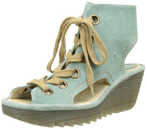 Fly London Yaba702fly, Sandali Donna Verde (Mint 003)