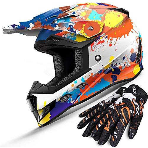 XX-Large FlipUp Visor 27V Matte Black MMG Helmet Dual Sport Off Road Motorcycle Dirt Bike ATV