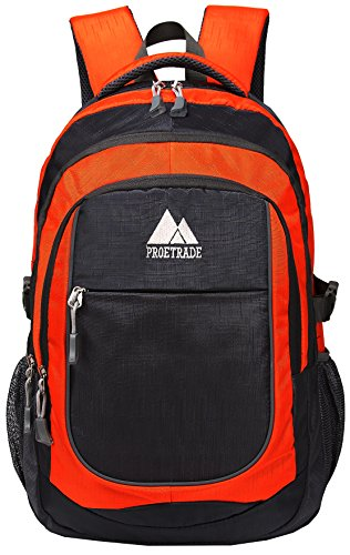 Travel Outdoor Computer Backpack Laptop bag (Orange) - 2