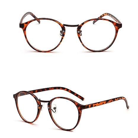 Amazon.com: FORUU Gafas, Moda Unisex Classic Metal Marco ...