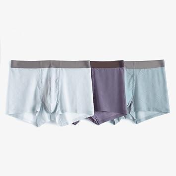 yalanshop Bóxer Cómodo Calzoncillos para Hombre Ropa Interior De Fibra De Bambú Pantalones De Seda De