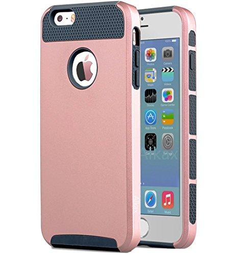 Slim Fit Hybrid Case for Apple iPhone 6/6s (Gold/Black) - 7