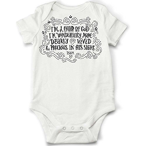 Child-of-God-Baby-Onesie-Cute-Baby-Bodysuit-Baptism-Christening-Gift-Christian-Baby-Gift-Bible-Quote-Baby-Gift