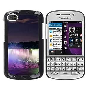 Be Good Phone Accessory // Dura Cáscara cubierta Protectora Caso Carcasa Funda de Protección para BlackBerry Q10 // Niagara Falls