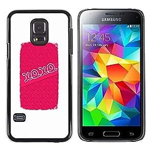 Be Good Phone Accessory // Dura Cáscara cubierta Protectora Caso Carcasa Funda de Protección para Samsung Galaxy S5 Mini, SM-G800, NOT S5 REGULAR! // Kisses Hugs Love Valentines Whi