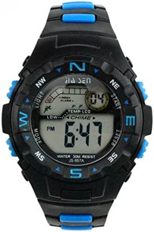 Water-proof Digital Sports Wrist Watches for Ages 7-15 Boys with Back Light Alarm Stopwatch Date and Day